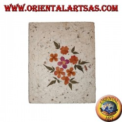 Notebook notebook in rice paper with flower petals decoration 1, 21 cm