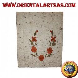 Cahier en papier de riz à décor de pétales de fleurs 2, 21 cm