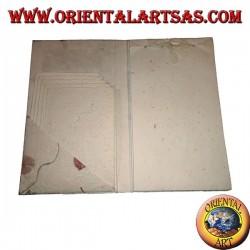Enveloppes pour lettres (5pc) avec des feuilles (22pc) dans un cahier en papier de riz et pétales
