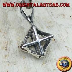 Silver pendant of Merkaba Mer-Ka-Ba