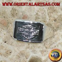 Anello in argento Harley Davidson sigillo a bassorilievo