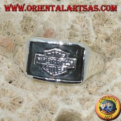 Silver ring Harley Davidson low relief seal