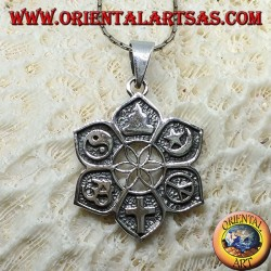 "Silver pendant, of all faiths. ""Interfaith"""