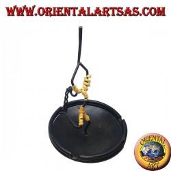 Burning incense, wrought iron ashtray, the dancer
