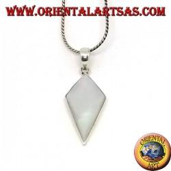 Silberanhänger mit schildförmigem Perlmutt