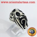 Anello in Argento teschio Johnny Depp