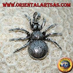 Ciondolo in argento, ragno tarantola  (grande) mobile