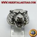 Anello in argento testa di tigre