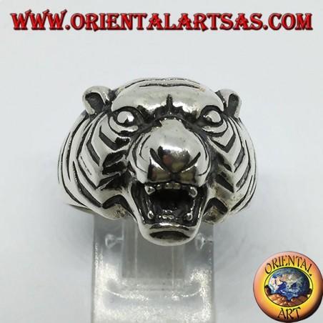 Bague en argent tête de tigre