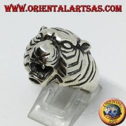 Silberring Tigerkopf