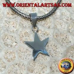 Простой серебряный кулон в виде маленькой звезды