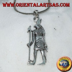 Silver pendant of the god Horus