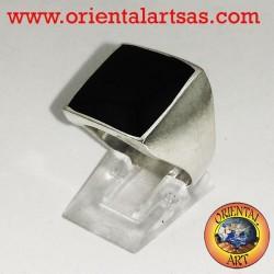 anneau plat avec onyx