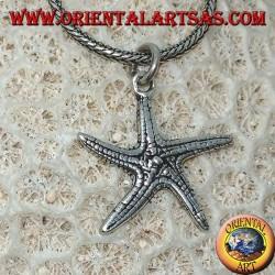 Серебряный кулон в виде двухсторонней морской звезды