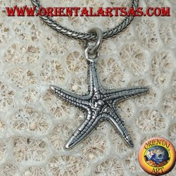Silver pendant in the shape of a double-sided starfish