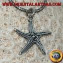 Ciondolo in argento a forma di stella marina bifacciale