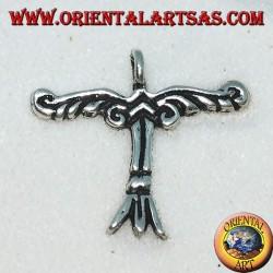Der silberne Anhänger Irminsul ist ein Symbol für Himmel, Erde und Unterwelt