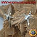 Orecchini in argento da lobo stella marina