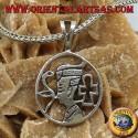 Ciondolo in argento Nefertiti la regina Egizia della XVIII dinastia