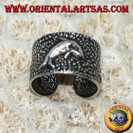 Ear Cuff in argento, delfino