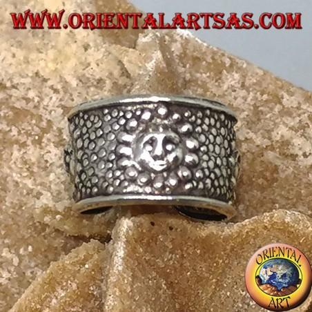 Ear Cuff in argento a fascia , sole