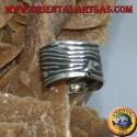 Ear Cuff in argento a fascia onda