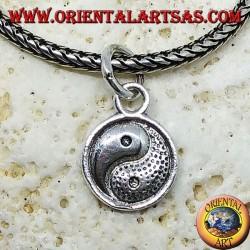 Ciondolo in argento yin yang (Tao) piccolo bifacciale