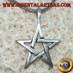 Ciondolo in argento il pentacolo , la stella