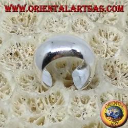 Серьга-манжета Серьга в серебре с гладкой закругленной полосой