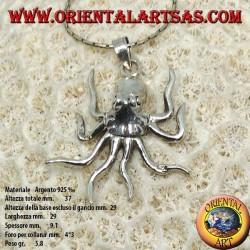 Подвеска в серебре осьминог мобильный символ интеллекта