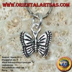 Colgante en plata pequeña mariposa de Ulises
