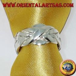 Anello puzzle fede turca in argento a  sei fili