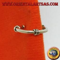 Ear Cuff in argento,orecchino a cerchietto lavorato con tre spirali