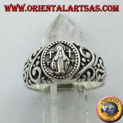 Anello in argento della Madonna Miracolosa