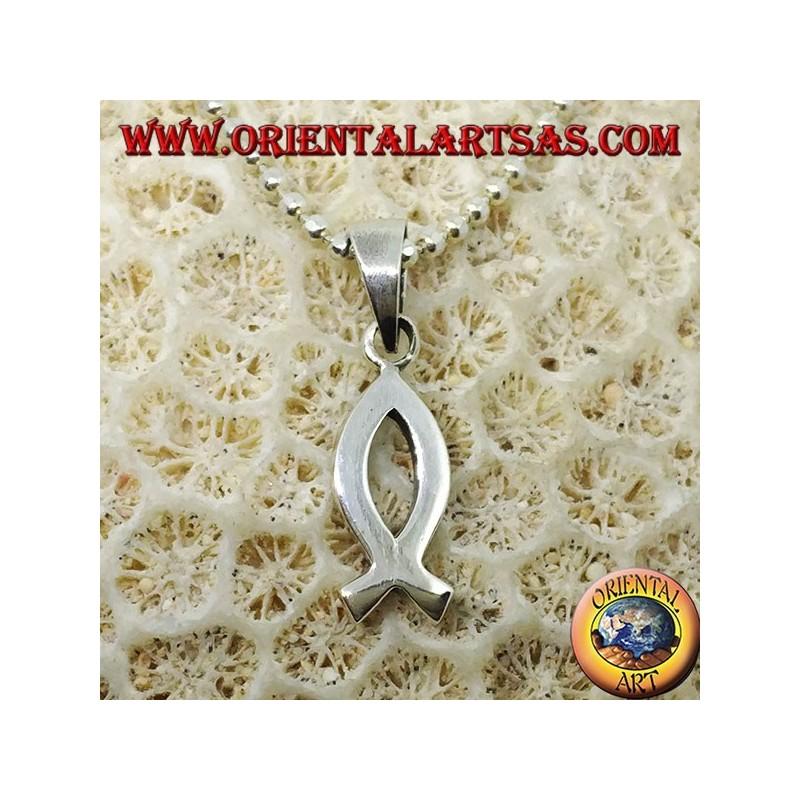Ciondolo il nastro rosa in argento, simbolo della lotta contro il tumore del seno.