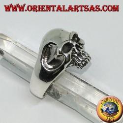 Silberring Totenkopf mit Unterkiefer- und Hohlbügeln