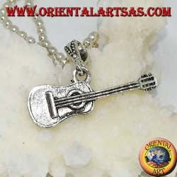 Chitarra classica a ciondolo in argento