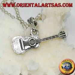 Classic silver pendant guitar