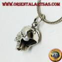 Ciondolo in argento a forma di Teschio (homo sapiens)