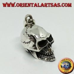 Skull pendant in 925 silver, homo sapiens.