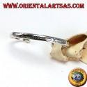Bracciale rigido in argento, con incisioni Balinesi fatti a mano