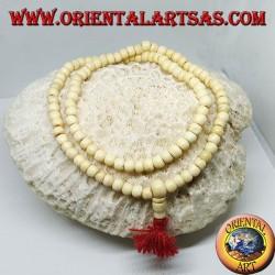 Малый буддийский четок из 108 зерен в кости яка 7 мм.