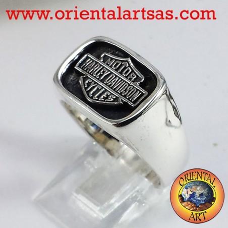 Anello in argento Harley Davidson sigillo