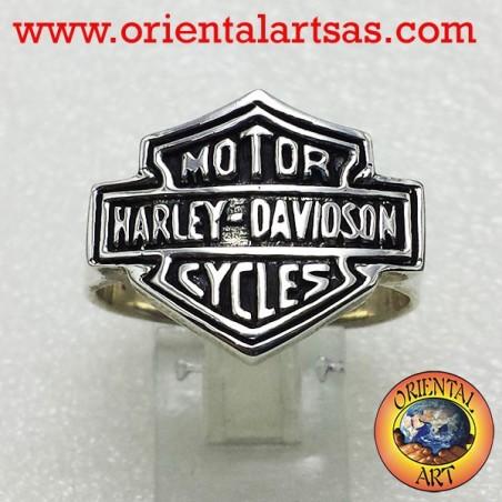 Silver Ring Harley Davidson logo