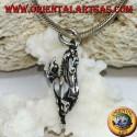 Ciondolo in argento di un cavallo rampante