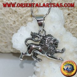 Ciondolo in argento 925 ‰ a forma di leone