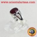 anello in argento con corniola
