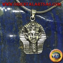Ciondolo in argento della maschera funeraria di Tutankhamon