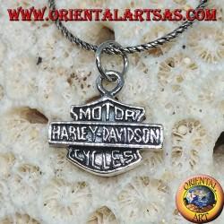 Colgante de plata, escudo medio Harley Davidson