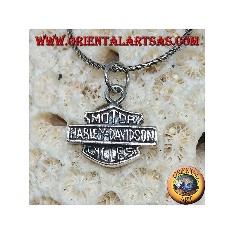Silver pendant, Harley Davidson medium shield